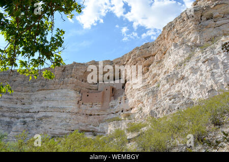Montezuma Castle National Monument in Arizona State - Stock Photo