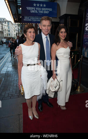 Seen arriving on red carpet for the Girl On The Train Press Night at Duke OF York Theatre, London. 30.07.19 Featuring: Anthony Andrews Where: London, United Kingdom When: 30 Jul 2019 Credit: WENN.com - Stock Photo