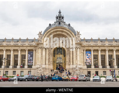PARIS, FRANCE - MAY 15, 2016: The Petit Palais (small palace) is an art museum in the 8th arrondissement of Paris, France - Stock Photo