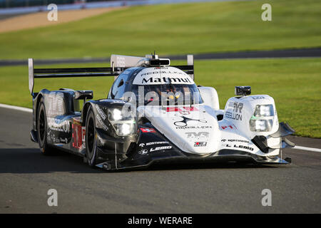 The #1 Rebellion Racing Rebellion R13-Gibson of Bruno Senna, Gustavo Menezes and Norman Nato during practice for the FIA World Endurance Championship - Stock Photo