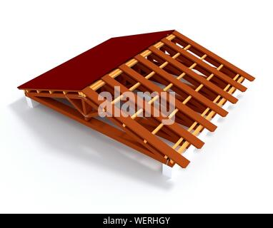Computer Generated Model Of Roof - Stock Photo