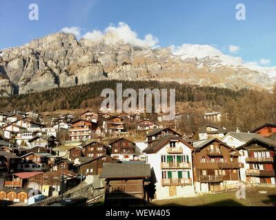 Idyllic Houses In Switzerland - Stock Photo