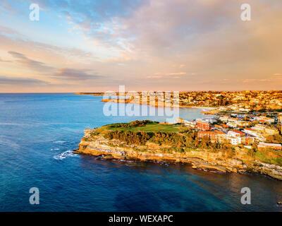 Bondi aerial view at sunrise