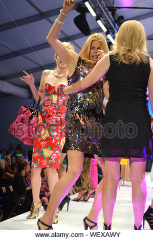 Palm Desert, CA - Mariel Hemingway and Cheryl Tiegs walk the runway for the 'Runway Night Street Seen' fashion show during Fashion Week El Paseo in Palm Desert. The two ladies looked like they had loads of fun in the Coachella Valley. AKM-GSI March 18, 2014 - Stock Photo