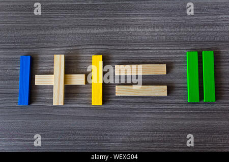 Directly Above Shot Of Numbers On Table - Stock Photo