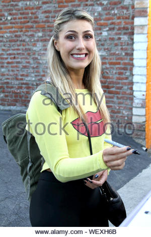 Hollywood, CA - Emma Slater gets in her daily dance practice for 'Dancing With The Stars'. AKM-GSI March 19, 2014 - Stock Photo