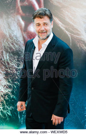 Rio de Janeiro, Brazil - Russell Crowe is all smiles as he attends a photo call for 'Noah' at Cine Lagoon in Rio de Janeiro, Brazil. AKM-GSI March 21, 2014 - Stock Photo