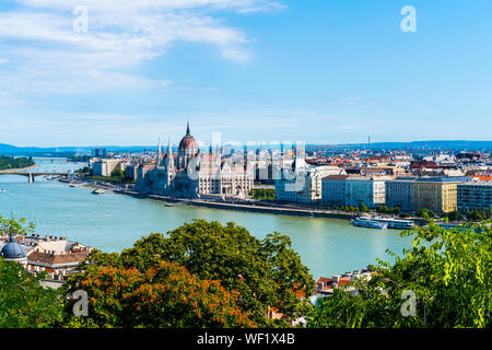 Budapest, Hungary - August 11, 2019: Cityscape of Budapest - Stock Photo