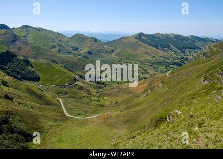 Gorgeous mountain landscape at Alto Valle del Miera, Cantabria, Spain - Stock Photo