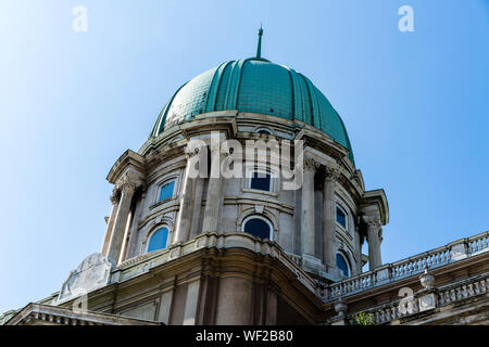 Budapest, Hungary - August 11, 2019: Dome of Buda Castle - Stock Photo