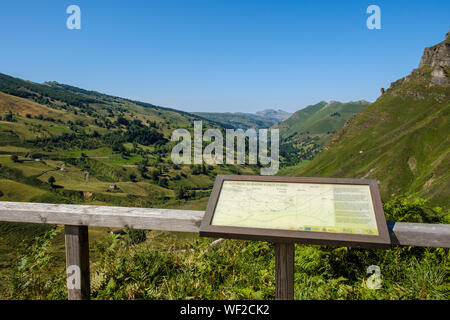 Lookout of the gorgeous mountain landscape at Alto Valle del Miera, Cantabria, Spain