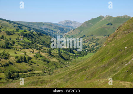 Gorgeous mountain landscape at Alto Valle del Miera, Cantabria, Spain