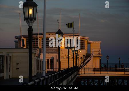 Worthing Pier At Sunset - Stock Photo
