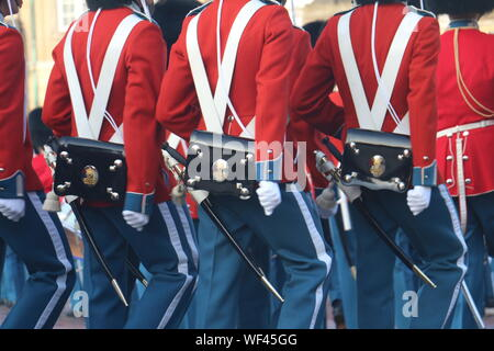 Mid Section Of Army Soldiers - Stock Photo