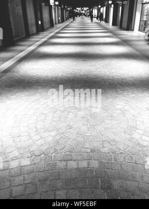 People Walking On Illuminated Path - Stock Photo