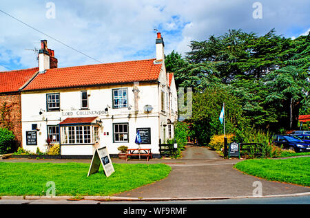 The Lord Collingwood Pub, Upper Poppleton, North Yorkshire, England - Stock Photo