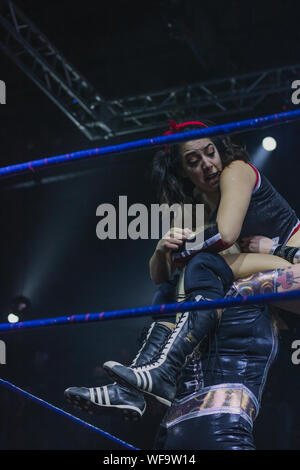 CHILE wrestling CNL - Stock Photo