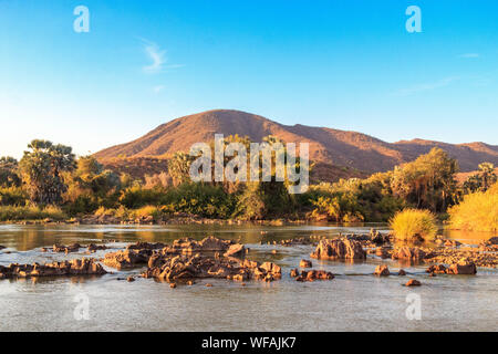 Kunene - border river of Angola and Namibia, Epupa, Namibia