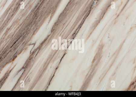 Brown lines on soft beige murble. High quality texture in extremely high resolution. - Stock Photo