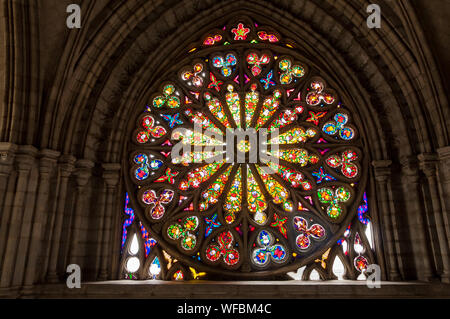 Stained Glass Window In Basilica Of The National Vow - Stock Photo