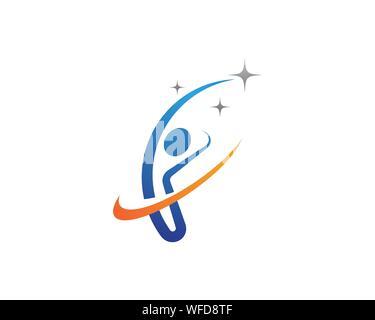Human character logo sign illustration vector design - Stock Photo