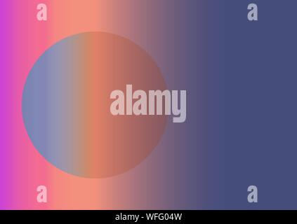 Abstract background using gradients. The circle in the rectangle. Colorful vector background. EPS 10. Horizontal composition A4 - Stock Photo