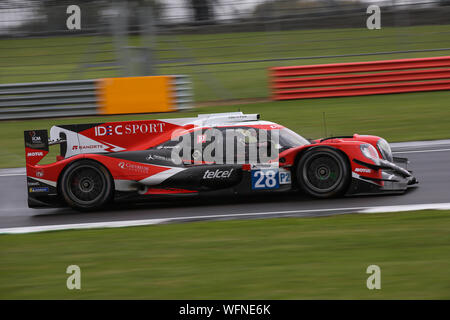 The #28 IDEC Sport Oreca 07-Gibson of Paul Lafargue, Paul Loup Chatin and Memo Rojas during the European Le Mans Series 4 Hours of Silverstone - Stock Photo