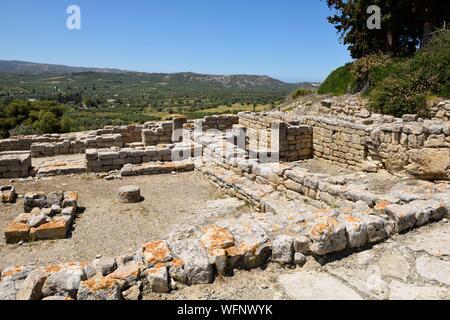 Greece, Crete, Phaistos, archeological site, west area - Stock Photo