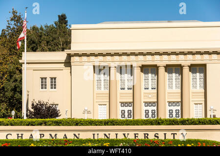 Chapman University, a private university in the city of Orange, California, USA - Stock Photo