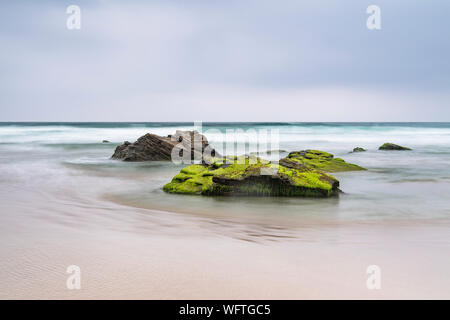 Beach next to Playde las Catedrais - Stock Photo