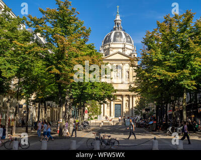 Paris, France - July 28, 2018: The Sorbonne Chapel at the Sorbonne University in Paris, France. The Sorbonne is a famous French University. - Stock Photo