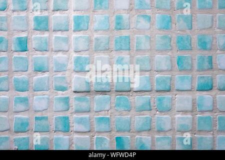 Full Frame Shot Of Tiled Wall - Stock Photo
