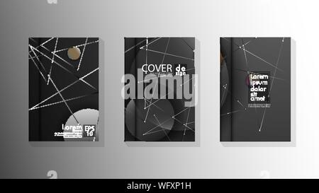 abstract book cover design with a galaxy background . vector illustration in eps 10 - Stock Photo