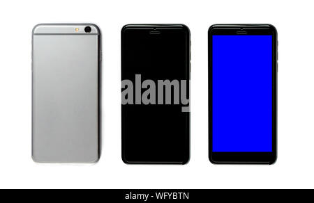 New realistic mobile phone smartphone collection - Stock Photo