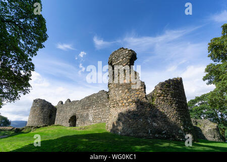 the old Inverlochy castle, Fort William in the highlands of Scotland - Stock Photo