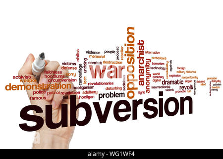 Subversion word cloud concept - Stock Photo