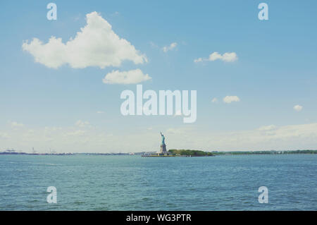 Scenic View Of Statue Of Liberty - Stock Photo