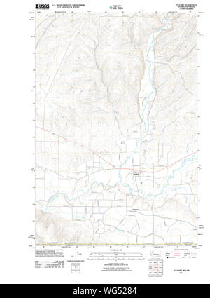 USGS Topo Map Washington State WA Touchet 20110914 TM Restoration - Stock Photo