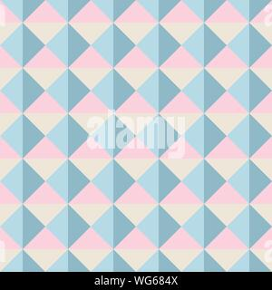 Abstract seamless pattern with squares and triangles. Colorful vector background EPS10 - Stock Photo