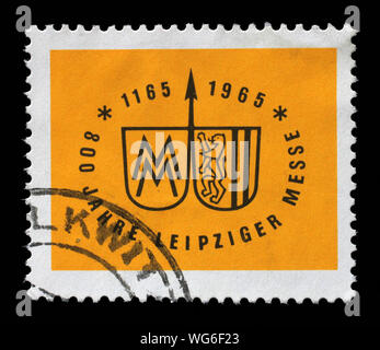 Stamp printed in Germany - Democratic Republic (DDR), shows Leipzig Spring Fair, circa 1964 - Stock Photo