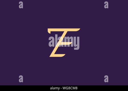 Creative Innovative Initial Letter logo ZE EZ. Minimal luxury Monogram. Professional initial design. Premium Business typeface. Alphabet symbol. - Stock Photo