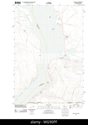 USGS Topo Map Washington State WA Wallula 20110914 TM Restoration - Stock Photo