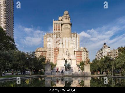 Plaza de España in Madrid - Stock Photo