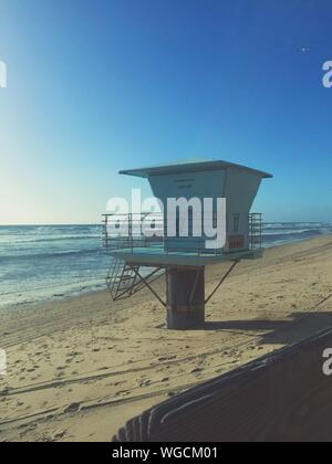 Lifeguard Hut On Sandy Beach - Stock Photo