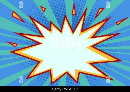 comic explosion background. Pop art retro vector illustration drawing - Stock Photo