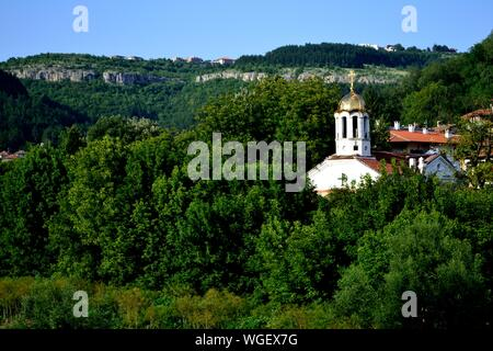 Holy forty Martyrs church in VELIKO TARNOVO - Balkan mountais - BULGARIA - Stock Photo