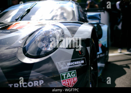 Towcester, Northamptonshire, UK. 1st September 2019. WEC Dempsey-Proton Racing (DEU) Porsche 911 RSR during the 2019 FIA  4 Hours of Silverstone World Endurance Championship at Silverstone Circuit. Photo by Gergo Toth / Alamy Live News - Stock Photo