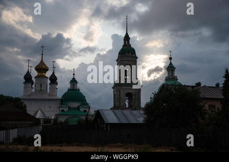 YAROSLAVL REGION, RUSSIA - AUGUST 18, 2019: A view of the Spaso-Yakovlevsky Monastery [Monastery of St Jacob Saviour] in the town of Rostov Veliky. Dmitry Feoktistov/TASS - Stock Photo