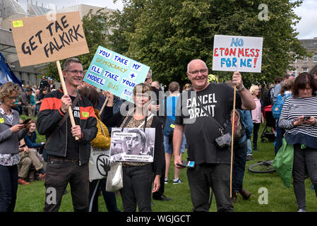 Edinburgh, Scotland, 31st August 2019. European Movement in Scotland held a protest against the prorogation of Parliament. - Stock Photo