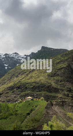 landscape with and mountain ranges. natural mountain in himalayas - Stock Photo